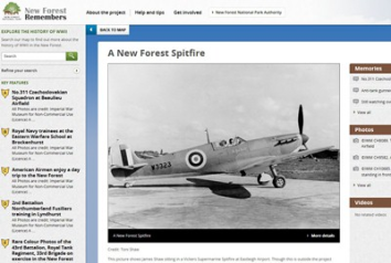New Forest Remembers Interactive Portal- screenshot