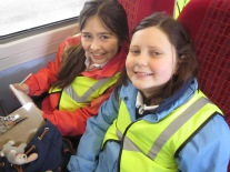 School visit by train, St Lukes School