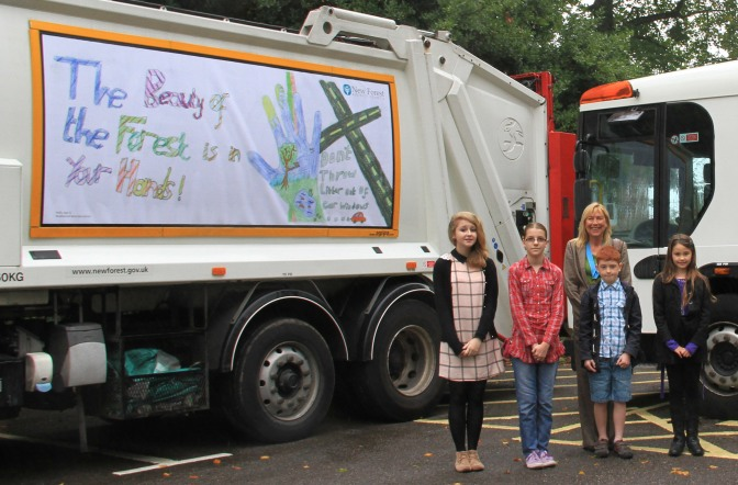 Look out for winning designs on local recycling lorries