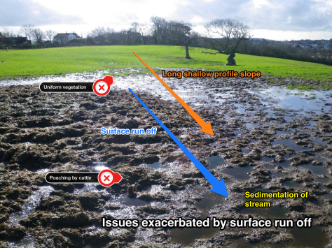 surface runoff skitched