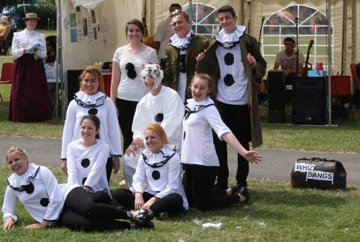 6th Form Students from Highcliffe Secondary School perform their Whiz Bang 2014 show for vistiors to the Royal British Legions event 'A Tribute to the Fallen' on Christchrch Quay in July