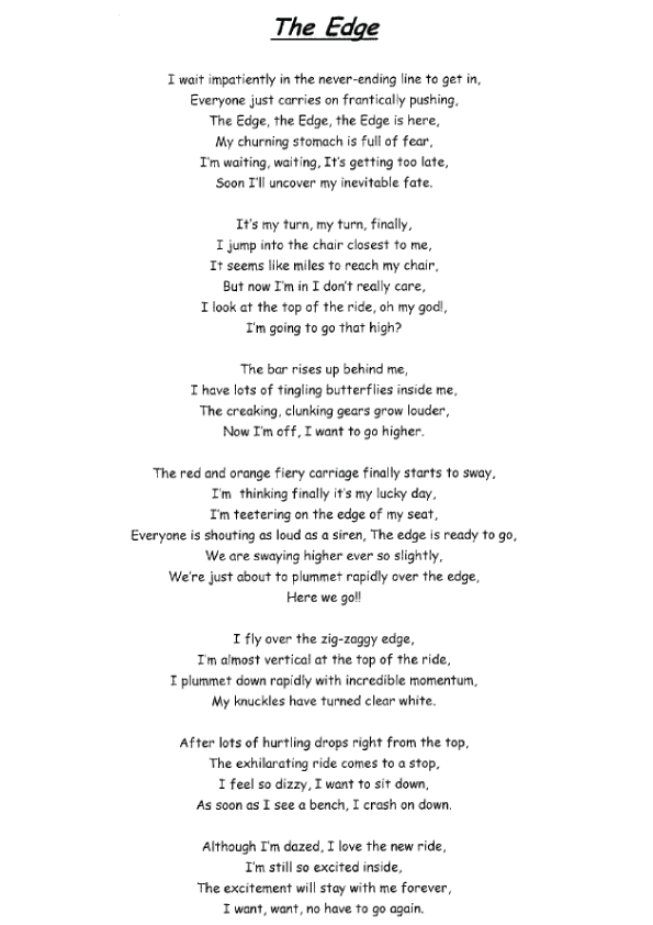 in the park poem pdf