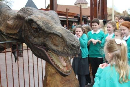 Dino on Science day Paultons Park